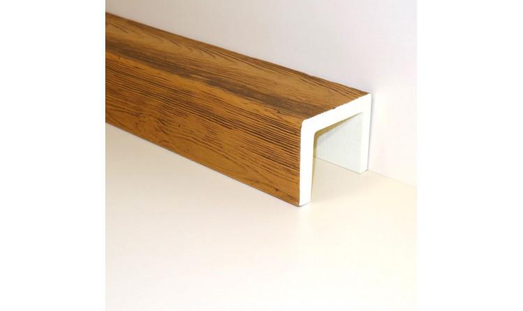 Декоративная балка 120x120 Классика Орех медовый