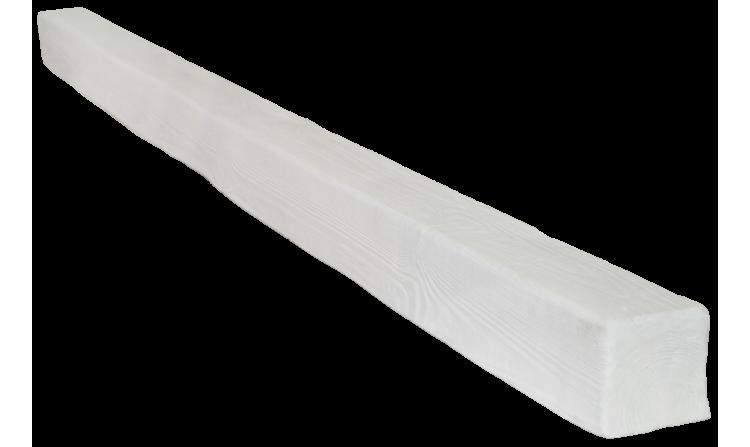 Декоративная балка Decorawood Фасад 70x70 Классика Белый