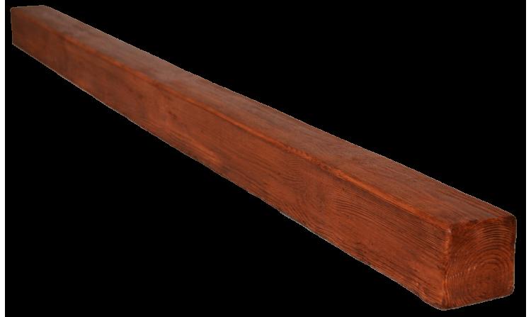 Декоративная балка Decorawood Фасад 70x70 Классика Орех