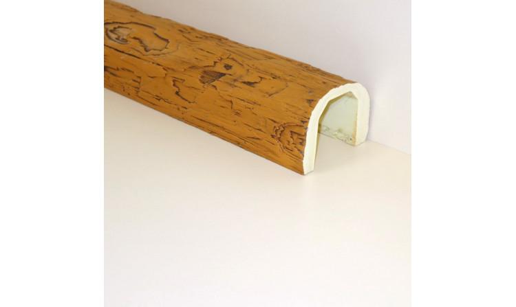 Декоративная балка под бревно 110x70 Орех медовый