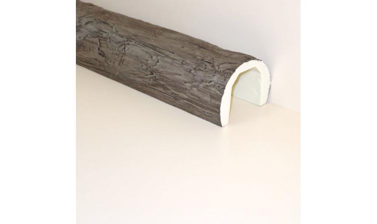 Декоративная балка под бревно 150x115 Пепел
