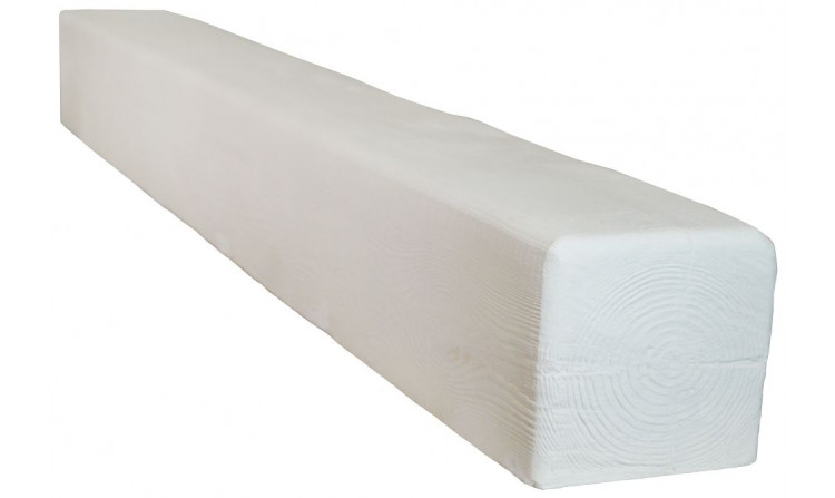 Декоративная балка Decorawood Фасад 195x195 Классика Белый