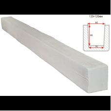 Декоративная балка Decorawood Фасад 120x120 Классика Белый