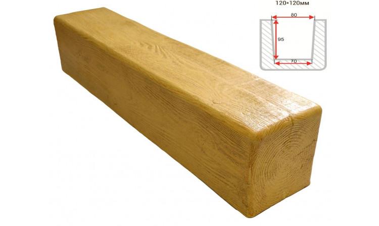 Декоративная балка Decorawood Фасад 120x120 Классика Сосна