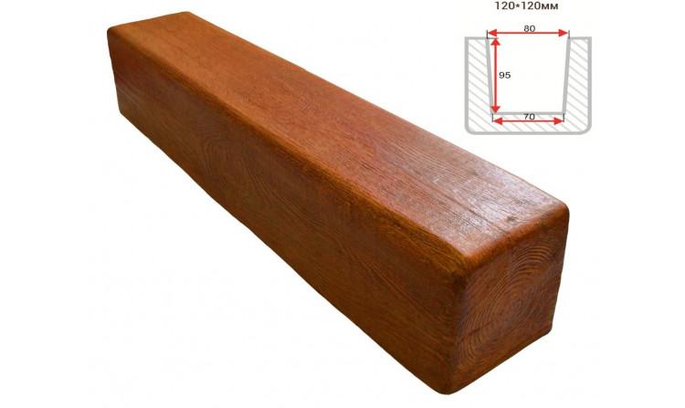 Декоративная балка Decorawood Фасад 120x120 Классика Орех