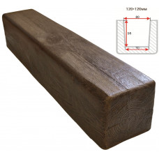 Декоративная балка Decorawood Фасад 120x120 Классика Темный Дуб
