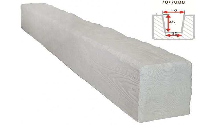 Декоративная балка Decorawood Фасад 70x70 Рустик Белый