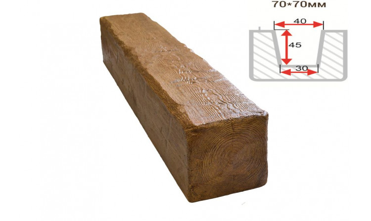 Декоративная балка Decorawood Фасад 70x70 Рустик Дуб светлый