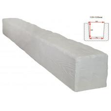 Декоративная балка Decorawood Фасад 120x120 Рустик Белый
