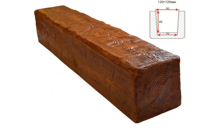Декоративная балка Decorawood Фасад 120x120 Рустик Орех