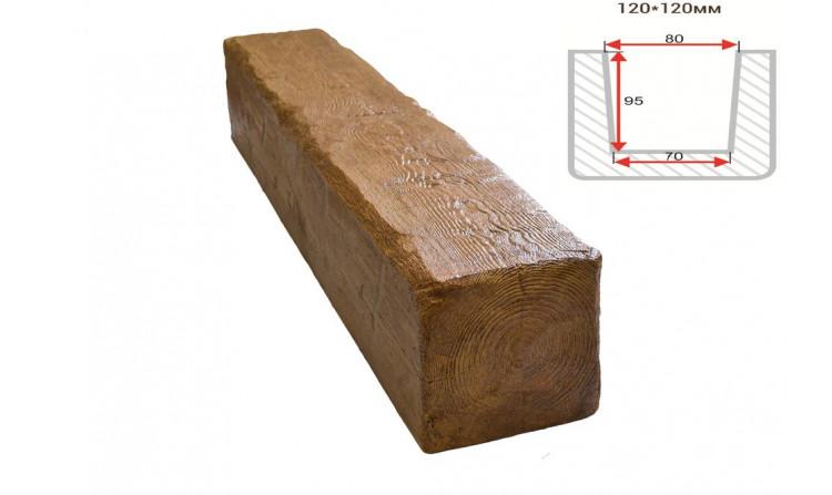 Декоративная балка Decorawood Фасад 120x120 Рустик Дуб светлый