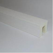 Декоративная балка 80x80 Классика Белый