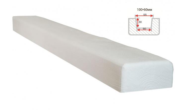 Декоративная балка Decorawood Фасад 100x60 Классика Белый