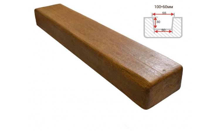 Декоративная балка Decorawood Фасад 100x60 Классика Дуб светлый