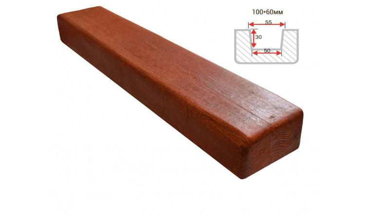 Декоративная балка Decorawood Фасад 100x60 Классика Рябина