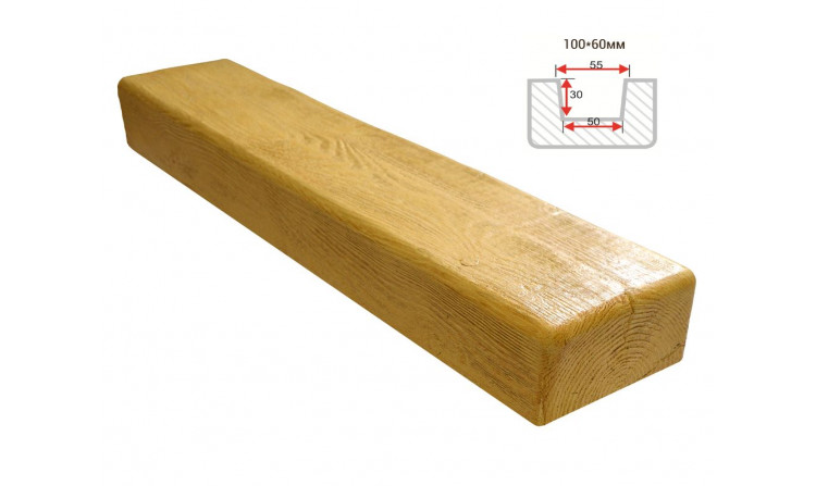 Декоративная балка Decorawood Фасад 100x60 Классика Сосна