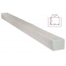 Декоративная балка Decorawood Фасад 145x120 Классика Белый