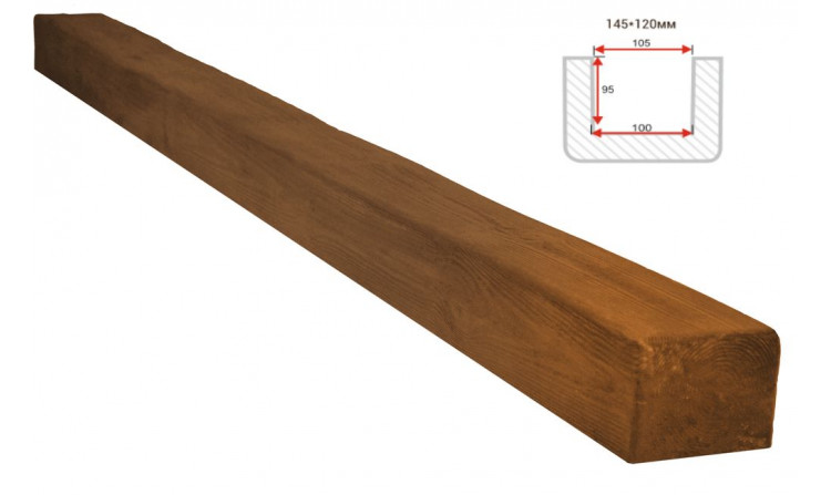 Декоративная балка Decorawood Фасад 145x120 Классика Дуб светлый