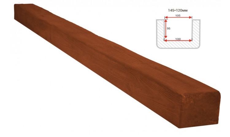 Декоративная балка Decorawood Фасад 145x120 Классика Орех