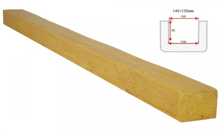 Декоративная балка Decorawood Фасад 145x120 Классика Сосна
