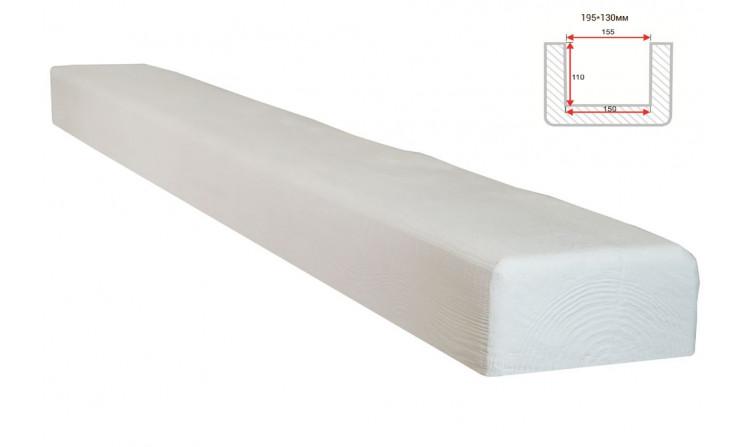Декоративная балка Decorawood Фасад 195x130 Классика Белый