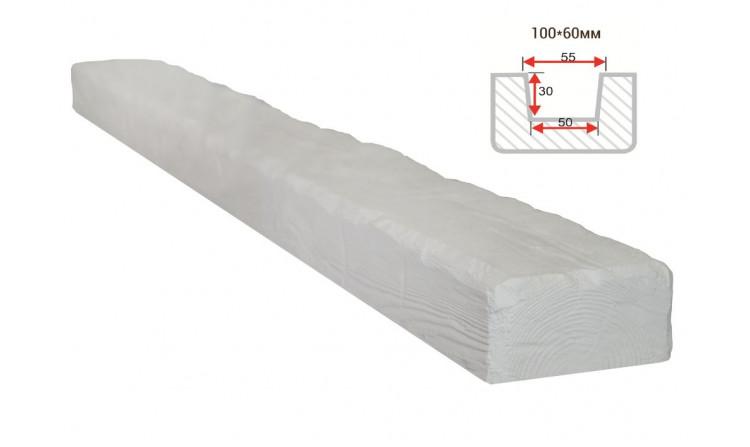 Декоративная балка Decorawood Фасад 100x60 Рустик Белый