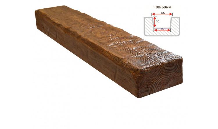 Декоративная балка Decorawood Фасад 100x60 Рустик Дуб светлый