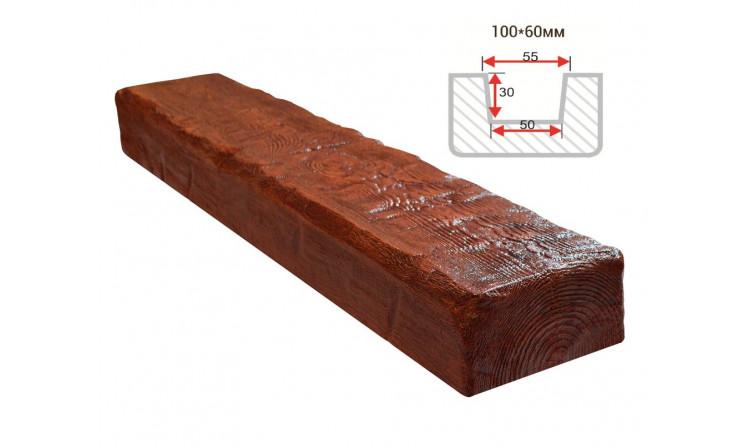 Декоративная балка Decorawood Фасад 100x60 Рустик Рябина