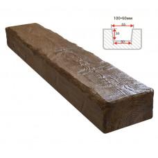 Декоративная балка Decorawood Фасад 100x60 Рустик Темный Дуб