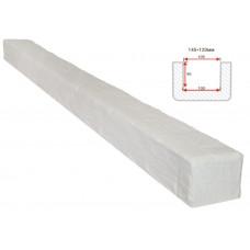 Декоративная балка Decorawood Фасад 145x120 Рустик Белый