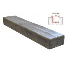 Декоративная балка Decorawood Фасад 100x60 Классика Пепел