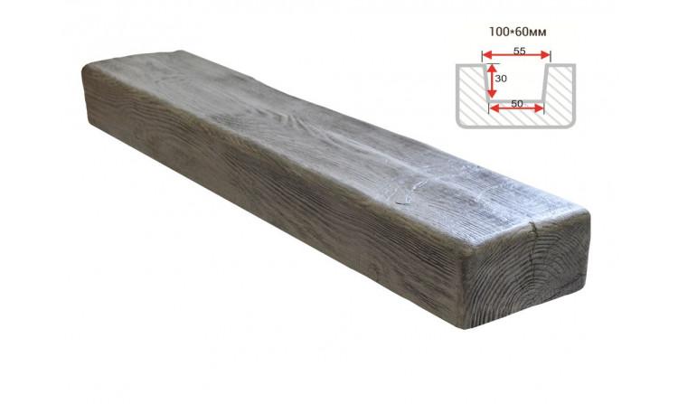 Декоративная балка Decorawood Фасад 100x60 Рустик Пепел