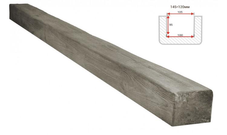 Декоративная балка Decorawood Фасад 145x120 Классика Пепел