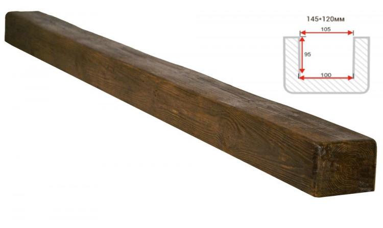 Декоративная балка Decorawood Фасад 145x120 Классика Фламбир