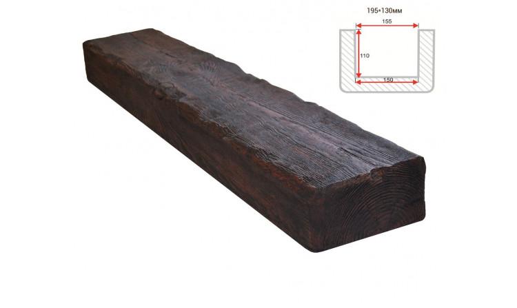 Декоративная балка Decorawood Фасад 195x130 Рустик Вишня