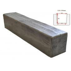 Декоративная балка Decorawood Фасад 120x120 Классика Пепел