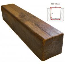 Декоративная балка Decorawood Фасад 120x120 Классика Фламбир