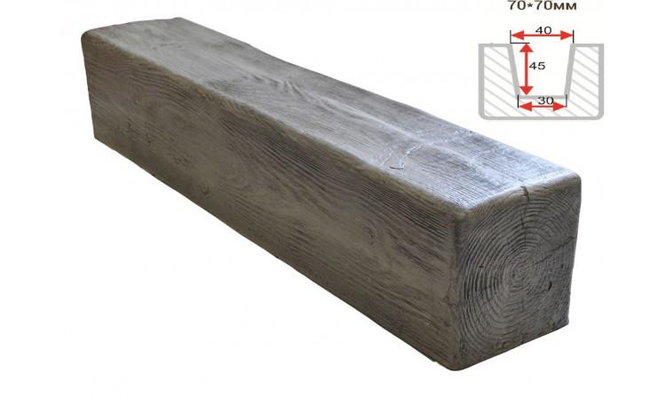 Декоративная балка Decorawood Фасад 70x70 Классика Пепел